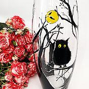 Для дома и интерьера ручной работы. Ярмарка Мастеров - ручная работа ваза для цветов с росписью Совушка. Handmade.