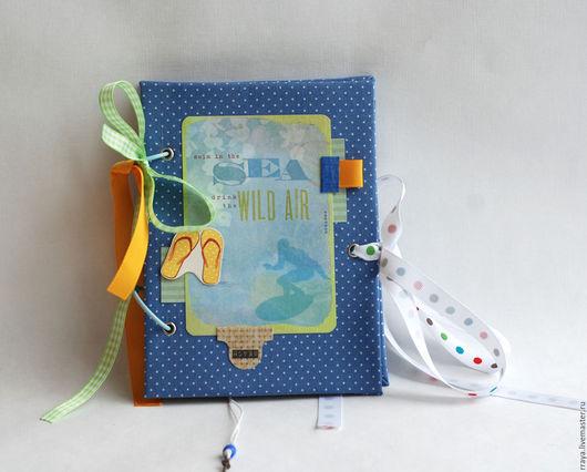 """Фотоальбомы ручной работы. Ярмарка Мастеров - ручная работа. Купить тревелбук """"Морской"""". Handmade. Travel journal, блокнот для путешествий, бумага"""