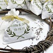 Для дома и интерьера ручной работы. Ярмарка Мастеров - ручная работа Свадебные подарки гостям Персональные саше лаванда прованс 50 шт Набор. Handmade.