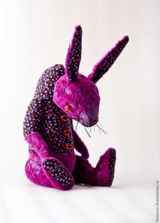 """Мишки Тедди ручной работы. Ярмарка Мастеров - ручная работа. Купить Кролик """"Крестик"""". Handmade. Фиолетовый, зайчик, состаренный"""