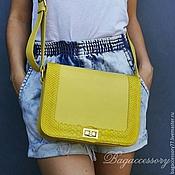 Сумки и аксессуары handmade. Livemaster - original item Women`s bag made of genuine leather and Python skin. Handmade.