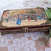 Для дома и интерьера ручной работы. Ярмарка Мастеров - ручная работа Шкатулка- купюрница Прогулка по Парижу. Handmade.