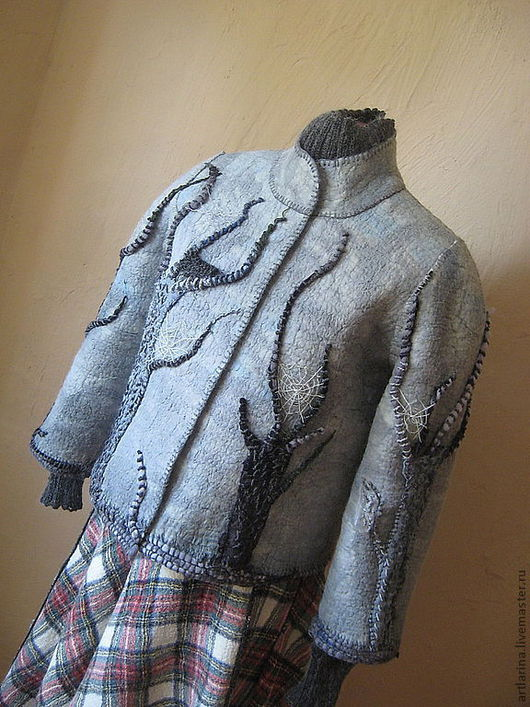 """Пиджаки, жакеты ручной работы. Ярмарка Мастеров - ручная работа. Купить Жакет"""" """"Волшебный лес"""". Handmade. Голубой, волшебный лес"""