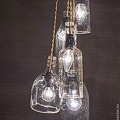 """Для дома и интерьера ручной работы. Ярмарка Мастеров - ручная работа Люстра """"Бутылочная"""". Handmade."""