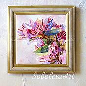 Картина с Цветами Картина розовая Бугенвиллея Декоративное Панно