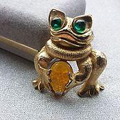 Vintage brooches handmade. Livemaster - original item Vintage brooch Frog. Handmade.