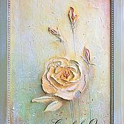 """Картины и панно ручной работы. Ярмарка Мастеров - ручная работа Картина объемная """"Утренняя роза"""". Handmade."""