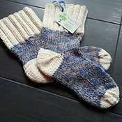 Аксессуары handmade. Livemaster - original item Men`s socks, knitting. Handmade.