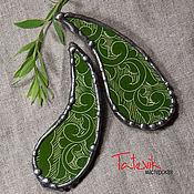 """Brooches handmade. Livemaster - original item Броши """"Зеленые огурчики"""" из кусочков """"Самаркандской керамики"""". Handmade."""