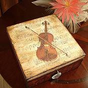 "Шкатулки ручной работы. Ярмарка Мастеров - ручная работа Шкатулка ""Звуки музыки"". Handmade."