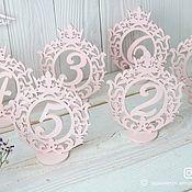 Карточки ручной работы. Ярмарка Мастеров - ручная работа Номерки для столов из дерева (Деревянные цифры для нумерации). Handmade.