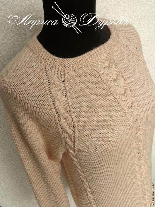 Кофты и свитера ручной работы. Ярмарка Мастеров - ручная работа. Купить Джемпер Экрю. Handmade. Бежевый, свитер женский
