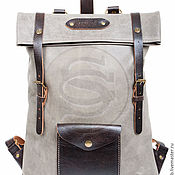 Сумки и аксессуары handmade. Livemaster - original item The backpack from the Vogue grey leather. Handmade.