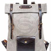Рюкзаки ручной работы. Ярмарка Мастеров - ручная работа Рюкзак из кожи Vogue серый. Handmade.