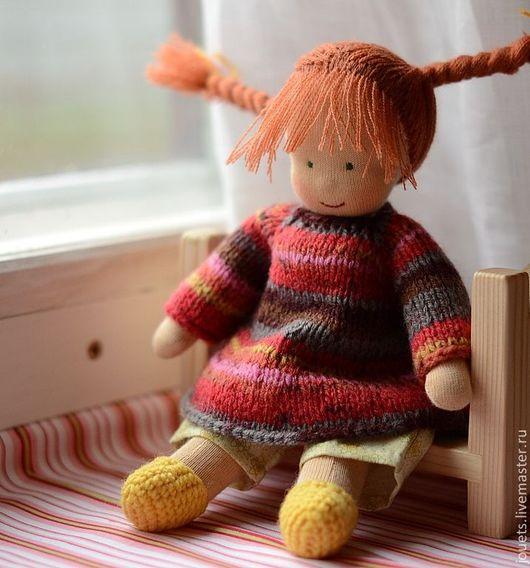 Вальдорфская игрушка ручной работы. Ярмарка Мастеров - ручная работа. Купить Пеппи, вальдорфская кукла 23см.. Handmade. Вальдорфская кукла