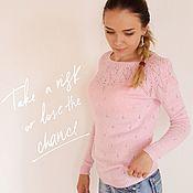 """Одежда ручной работы. Ярмарка Мастеров - ручная работа Джемпер """"Грейс"""" розовый. Handmade."""