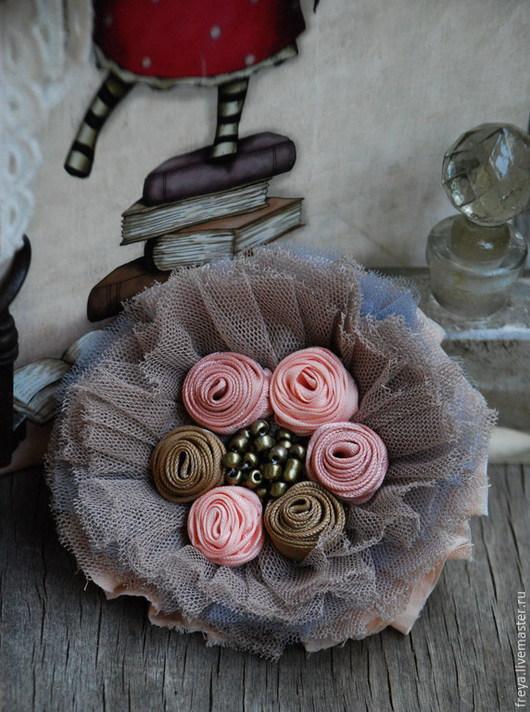 """Броши ручной работы. Ярмарка Мастеров - ручная работа. Купить Брошь """" Розовый сад"""". Handmade. Брошь, брошь с розочками"""