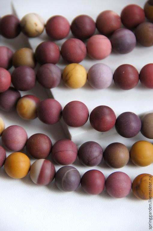 Для украшений ручной работы. Ярмарка Мастеров - ручная работа. Купить Яшма Мукаит бусины ДОЛЬЧЕТТО 10  мм матовый шар. Handmade.