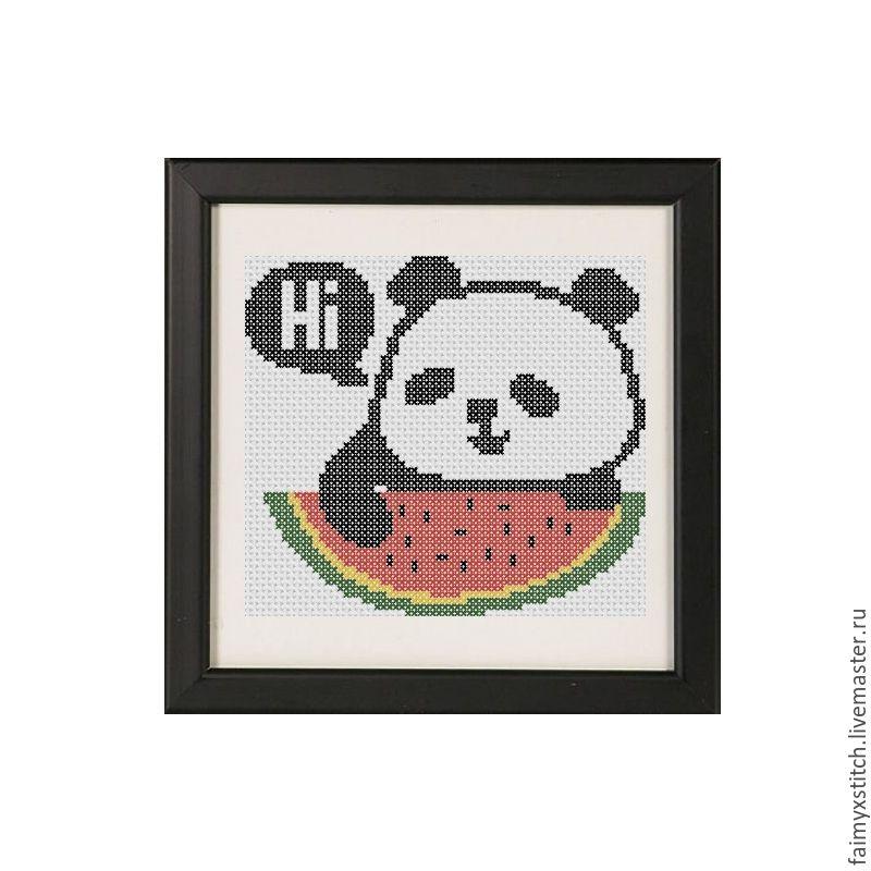 Схема вышивка крестиком панда схема