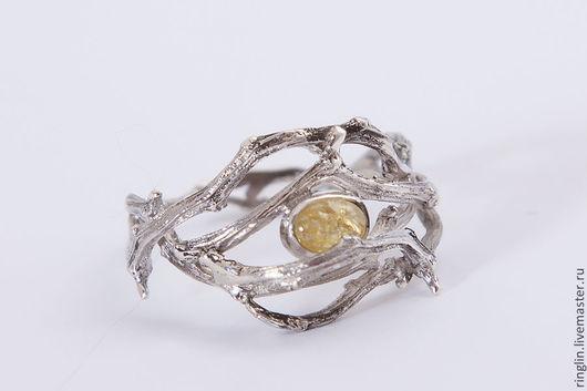 Кольца ручной работы. Ярмарка Мастеров - ручная работа. Купить Кольцо из веточек с камнем. Handmade. Серебряный, серебро