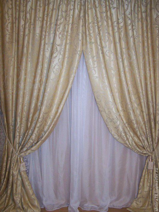 Текстиль, ковры ручной работы. Ярмарка Мастеров - ручная работа. Купить Шторы. Handmade. Бежевый, шторы для дома, шторы на заказ