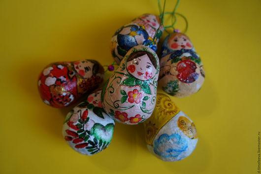 Народные куклы ручной работы. Ярмарка Мастеров - ручная работа. Купить Весёлые матрешки. Handmade. Комбинированный, матрешка, акриловые краски