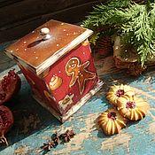 """Подарки к праздникам ручной работы. Ярмарка Мастеров - ручная работа Короб """"Рождественская выпечка"""". Handmade."""