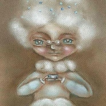 """Картины и панно ручной работы. Ярмарка Мастеров - ручная работа Картина пастелью """"Время пить чай"""". Handmade."""