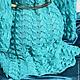 """Кофты и свитера ручной работы. Вязаный эксклюзивный женский кардиган """"По волнам любви"""" бирюзовый. Кардиганы FDesign, шали. Ярмарка Мастеров."""