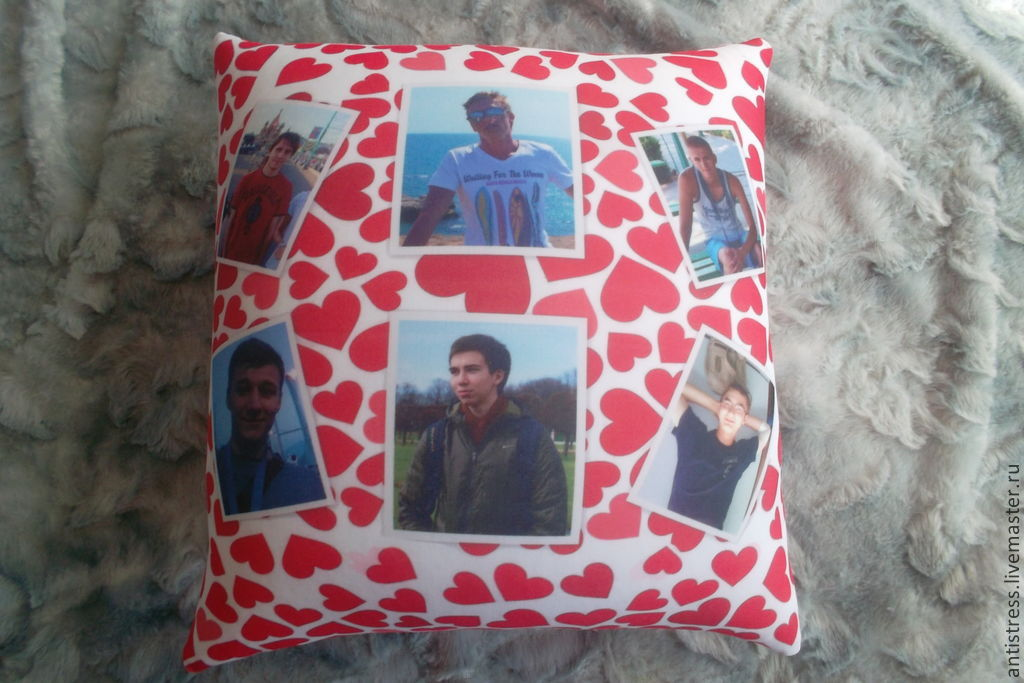 подушки со своими фото