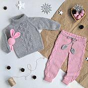 Работы для детей, handmade. Livemaster - original item Children`s knitted blouse and pants