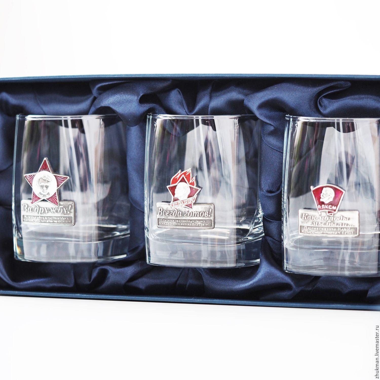 A set of glasses NOSTALGIA (ENAMEL). Gift set (3 cups/glasses), Gift Boxes, Zhukovsky,  Фото №1