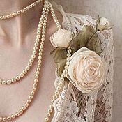 Свадебный салон ручной работы. Ярмарка Мастеров - ручная работа Кремовая веточка роз. Handmade.