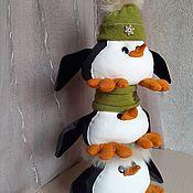 Мягкие игрушки ручной работы. Ярмарка Мастеров - ручная работа Пингвины. Handmade.