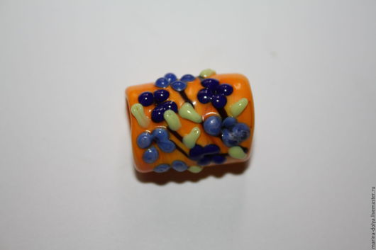 Для украшений ручной работы. Ярмарка Мастеров - ручная работа. Купить Бусина Regaliz. Handmade. Бусины лэмпворк, бусины, лампворк