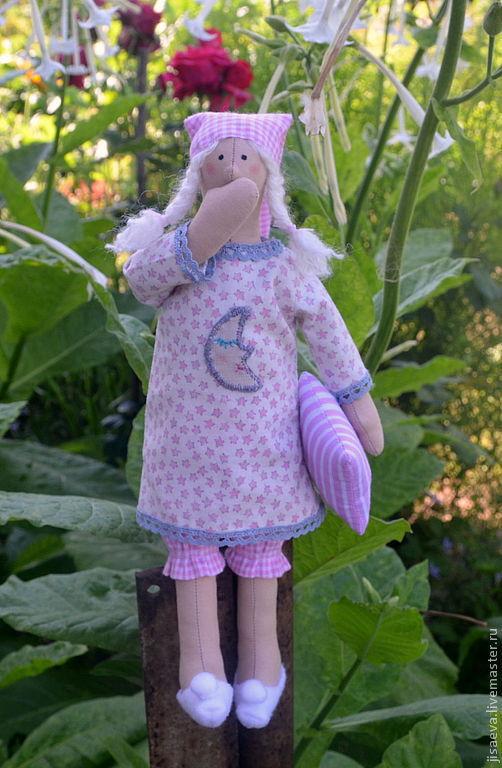 Куклы Тильды ручной работы. Ярмарка Мастеров - ручная работа. Купить Сплюшка. Хранительница сладких снов. Handmade. Розовый, кукла