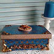 Для дома и интерьера ручной работы. Ярмарка Мастеров - ручная работа шкатулка деревянная декупаж ПАРАДНАЯ. Handmade.