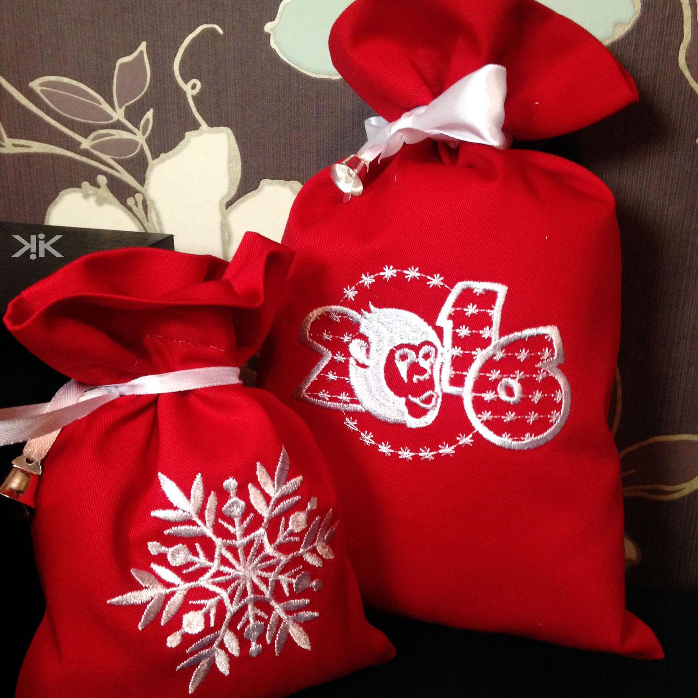 Мешочки для подарков новогодние подарки 29