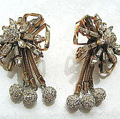 Винтаж handmade. Livemaster - original item Vintage clip-on earrings, antique Hobe. Handmade.