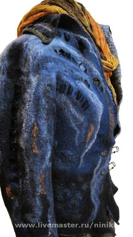 """Верхняя одежда ручной работы. Ярмарка Мастеров - ручная работа. Купить Цельноваляная куртка """"Сабрина"""". Handmade. Шёлк"""