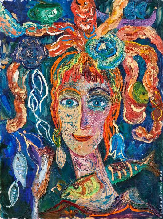 """Люди, ручной работы. Ярмарка Мастеров - ручная работа. Купить Картина  ,""""Сон в летнюю ночь"""". Handmade. Рыжий, портрет"""