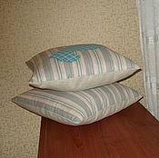 """Для дома и интерьера ручной работы. Ярмарка Мастеров - ручная работа Комплект из двух подушек  """"Дачная пастораль"""". Handmade."""