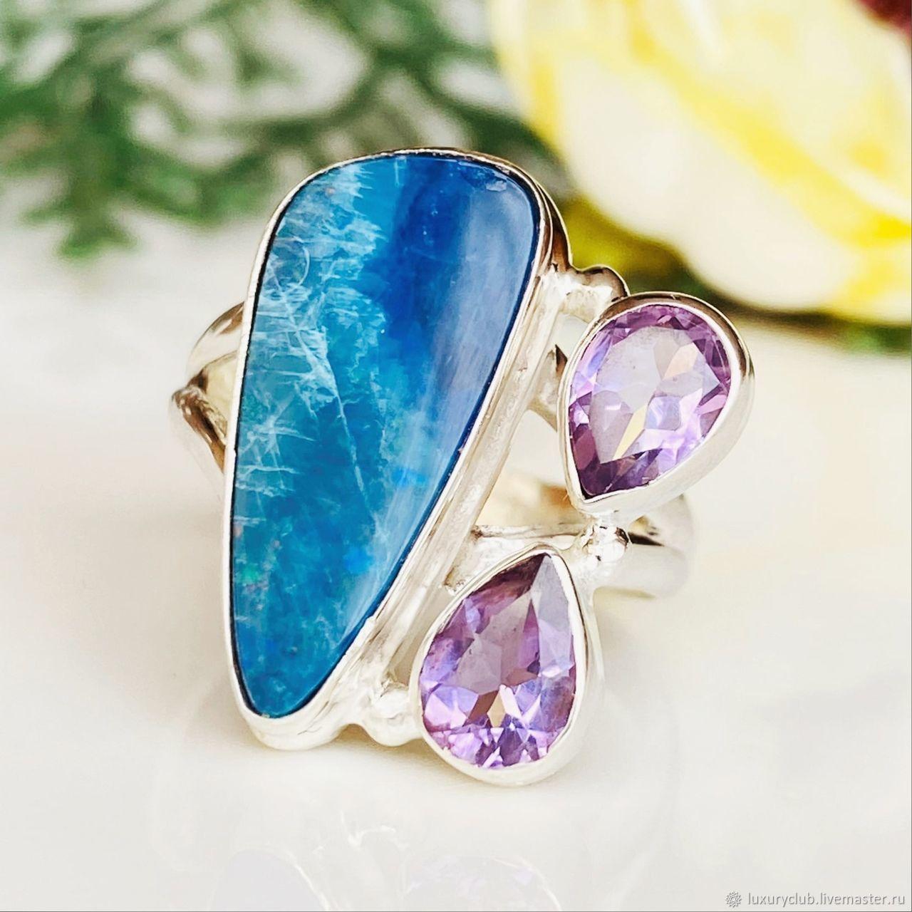 17P Australian opal Ring 7.97 ct buy, Rings, Tolyatti,  Фото №1
