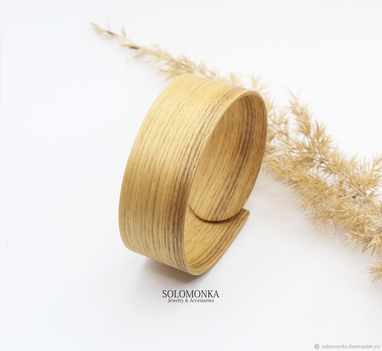 Браслет деревянный, ясень, Браслет жесткий, Саранск,  Фото №1