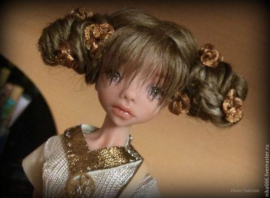 Коллекционные куклы ручной работы. Ярмарка Мастеров - ручная работа. Купить Safi Gold Steampunk. Handmade. Коричневый, шарнирка