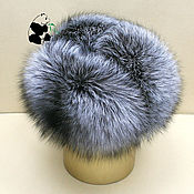 Аксессуары handmade. Livemaster - original item Hat with earflaps made of silver Fox fur and genuine leather.. Handmade.