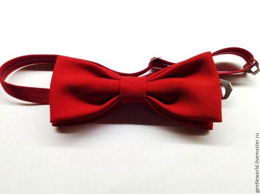 """Галстуки, бабочки ручной работы. Ярмарка Мастеров - ручная работа. Купить галстук бабочка """"Красный"""". Handmade. Ярко-красный"""
