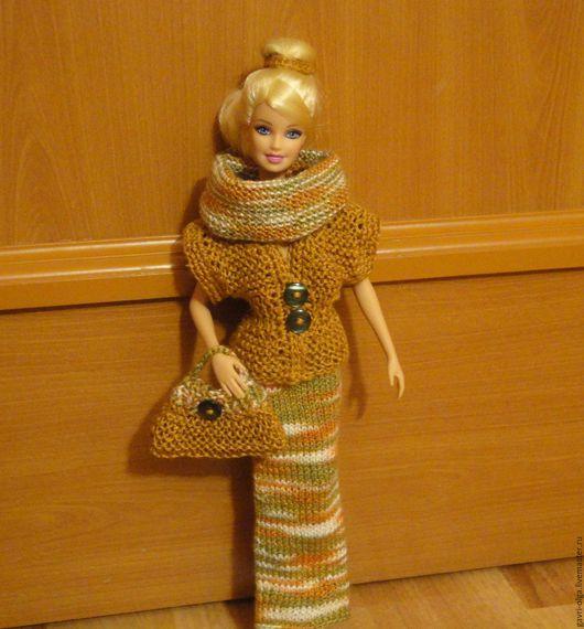 """Одежда для кукол ручной работы. Ярмарка Мастеров - ручная работа. Купить Наряд для куклы Барби """"Офисный"""". Handmade. Коричневый"""