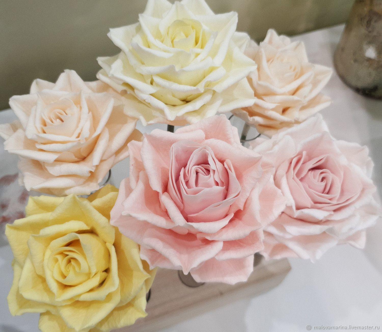 Купить розы из полимерной глины украина, высоких