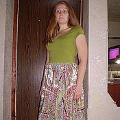 Одежда ручной работы. Ярмарка Мастеров - ручная работа юбка  Крепдешин. Handmade.